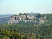 Rabentürmchen – Blick zum  Neuen Wildenstein, Kuhstall