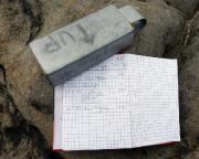 Der erste Gipfelbucheintrag des Jahres  auf dem Honigstein, natürlich, da solo, nur über den Alten Weg I. Aber immerhin ;)