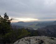 Blick vom Gipfel des Honigsteins  in den späten Nachmittag des ersten Tages 2013