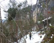 Königsweg im Elbsandsteingebirge, hier im Bereich der Bärenfangwände