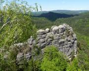 Die Sommerwand, aufgenommen vom Gipfel des Portalturms.