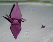 Origami - bemerkenswert der kleine Schwan, gefertigt von Moto