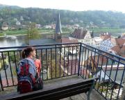 Stadt Wehlen - am Aussichtspunkt auf den Resten der alten Bedestigungsanlagen