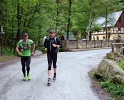 Start unser Trailrunning-Tour durch die hintere sächsische Schweiz an der Neumannmühle.