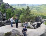 Ausstieg der Häntzschelstiege - hier eröffnet sich ein genialer Blick auf die traumhaft schöne Landschaft
