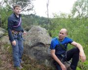 Roberto und Björn - hier mit nicht ganz so heiterem Blick ...