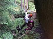 Abenteuerliche Abseile vom Herbertfels