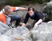 Klettern im Alten Weg am Rabentürmchen
