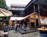 Gleich zu Beginn eine tolle Überraschung an der Mühle in Schmilka - hier hat ein sehr angenehmes Restaurant eröffnet.