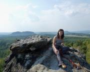 Das erstemal allein in einer Seilschaft unterwegs: auf dem Gipfel der Narrenkappe am Gohrisch