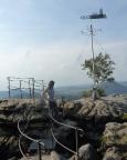 An der nordwestlichen Aussichtsplattform des Gohrisch