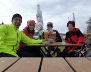 Auf dem Elbradweg von Schmilka nach Dresden -  Verdiente Pause nach ca 35, 5 km in Heidenau