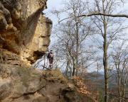 Trailrunning bei Schmilka - Auf dem Gabrielensteig - goldener Sandstein und weite Aussichten.