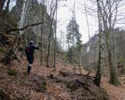 Trailrunning bei Schmilka - nach ca. 6,5 km erreichen wir das Prebischtor, weiter geht es über den Gabrielensteig.