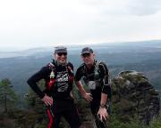 Trailrunning bei Schmilka - Aussicht auf Böhmen - das besondere Selfi