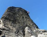 Fechi im Südostweg am Neurathener Felsentor - eine der schönsten Dreien, die wir kennen.