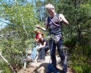 Wiese sichert Vorsteiger Fechi am Honigsteinkopf