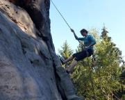 Nur einen Gipfel später ist der Knoten geplatz - das Abseilen klappt!