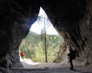 Maria und Volker in der Kleinsteinhöhle an der Kleinsteinwand