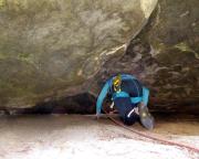 Tour 05 - Almuth im Kriechgang des Alten Weges an der Heidewand