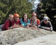 Tour 05 - Unser Team, außer Kerstin, auf dem Gipfel der Heidewand