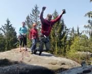 Tour 05 - Heidewand, ein Schritt zum Gipfelbuch würde es auch machen, aber so sieht es doch viel spektakulärer aus ;)