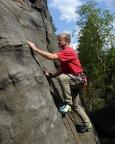 Tour 07 - Steffen in einer Variante zum Alten Weg am Wiesenkopf