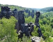Tour 07 - Blick vom Herkulesstein nach Süden in das vordere Bielatal
