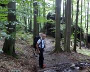 Bergsteig beim Abstieg nach Schmilka - Tour 08