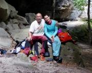 Sommerwand - Teamfoto im Bereich des Felsentores - Tour 08