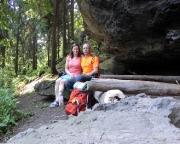 Picknick in der Zschirnsteinboofe  am  Großen Zschirnstein