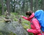 Steinmänner – ein Spielplatz auf dem Abstieg nach Oybin