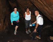 Bennohöhle, der Höhlengrund ist nach der Höhlenbefahrung erreicht