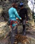 Rabentürmchen, Wildensteiner Gebiet, Diana wird Bergsteigerin