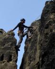 Rabentürmchen, Alter Weg, Diana klettert ohne Skrupel