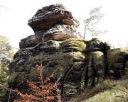 Blick auf die Bergseite des Muselmann – die Talseite ist doch beachtlich hoch