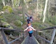 Unterwegs am Katzstein beim Zustieg zum Klettergipfel Dicke Berta