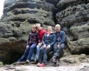 Unser Team nach einem tollen Klettertag – Katrin, Steffen, Almuth und Aldo