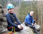 Almuth und Fechi auf dem Gipfel der Leichten Zacke