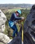 Auf geht es in die letzte und mit fast 30 m längste Abseile dieser Klettertage
