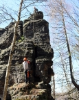 Grenzturm, Hranizni Vez, in Böhmen direkt an der Gruppe der Griechen