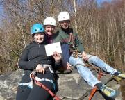 Jubiläum 2 – Almuth, Katrin und Steffen auf ihrem ersten böhmischen Gipfel