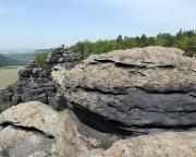 Blick vom Vorgipfel zum Gipfel der Schildkröte - noch Fragen zum Gipfelnamen?