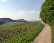 Frühlingsabend bei herrlicher Sonne auf dem Rückweg nach Pfaffendorf