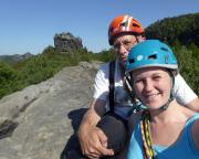 Selfi zum Abschluss eines großartigen Klettertages