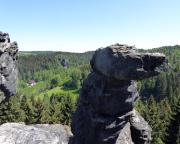 Blick vom südlichen Wiesenstein zum Großvaterstuhl