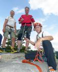 Auch auf dem Heidestein: zum Wohle auf den Gipfelerfolg
