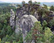 Blick vom Heidestein auf das Massiv des Gamrig, im Vordergrund der Gamrigkegel