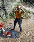 Start in eine geplant intensive Kletterwoche an der Bärensteinscheibe