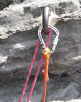 Unsere Neuen im Einsatz: Kletterseil von Mammut und eine wirklich geniale Selbstsicherung von Petzl (Connect Adjust – Standplatzschlinge)
